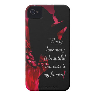 Love story quote kiss lover background Case-Mate iPhone 4 case