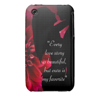 Love story quote kiss lover background Case-Mate iPhone 3 case