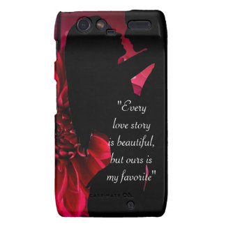 Love story quote kiss lover background motorola droid RAZR cover