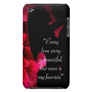 Love story quote kiss lover background iPod touch cases