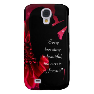Love story quote kiss lover background galaxy s4 cases