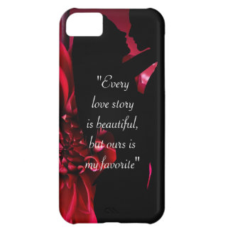 Love story quote kiss lover background iPhone 5C case