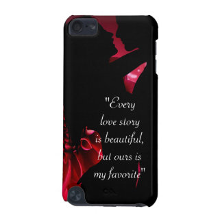 Love story quote kiss lover background iPod touch 5G case