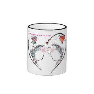 Love story ringer mug