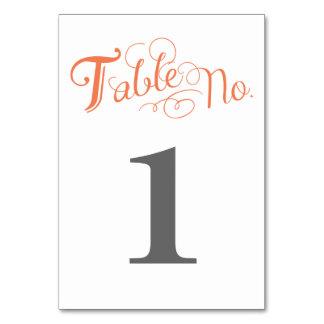 Love Story Table Number Card