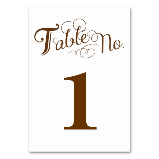 Love Story Table Number Card Table Card