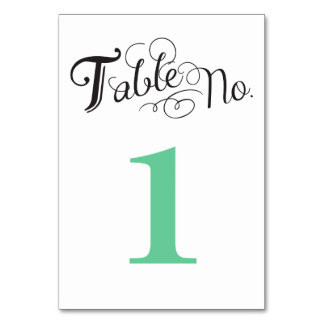 Love Story Table Number Card Table Cards