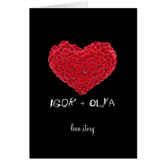 Love Story Valentines Greeting Card