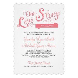 Love Story Wedding Invitation Custom Invitations