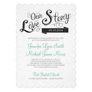 Love Story Wedding Invitation Announcement