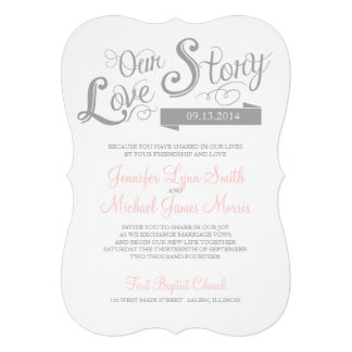 Love Story Wedding Invitation Cards