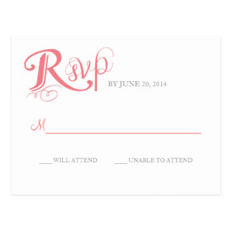 Love Story Wedding Reply Postcard