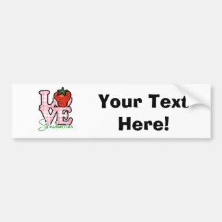 Love Strawberries Bumper Sticker