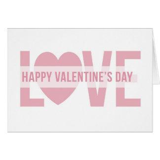 Love Stripe Greeting Card
