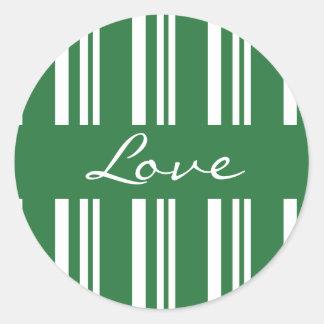 Love Striped Envelope Sticker Seal