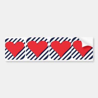 LOVE STRIPES BUMPER STICKERS