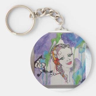Love Struck Art Painting Key Ring