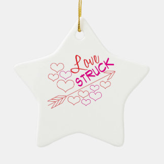 Love Struck Ceramic Star Ornament