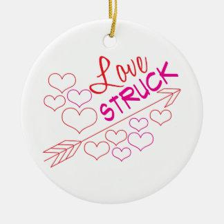 Love Struck Round Ceramic Decoration