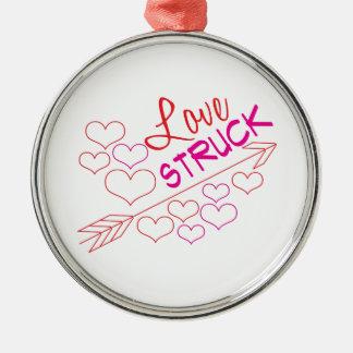 Love Struck Silver-Colored Round Ornament