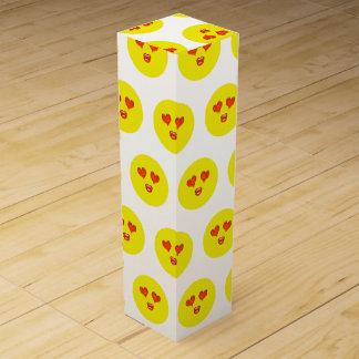 Love Struck Emoji Wine Box