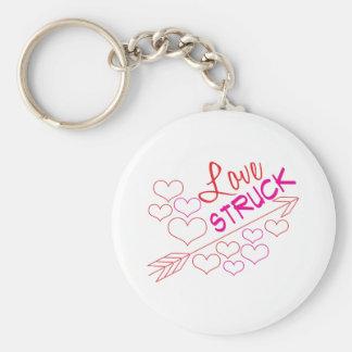 Love Struck Basic Round Button Keychain