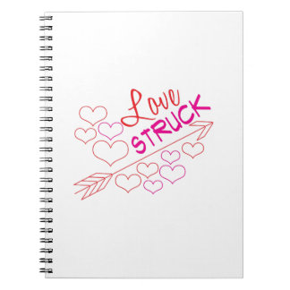 Love Struck Spiral Note Books