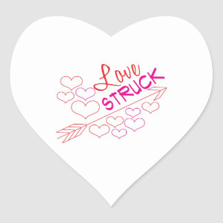 Love Struck Heart Sticker