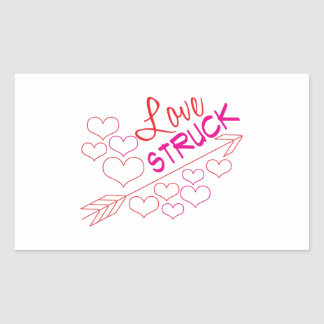Love Struck Rectangular Sticker