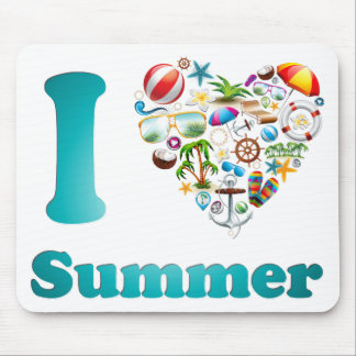 Love summer design mouse pad