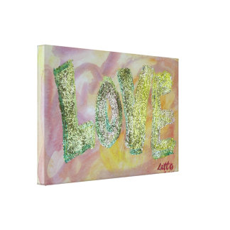 Love Summer Glow Painting Canvas Print