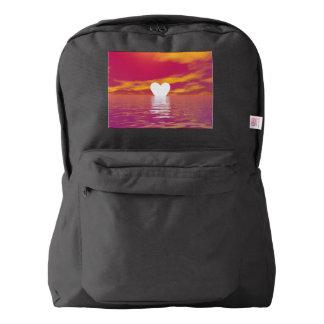Love sunset - 3D render Backpack