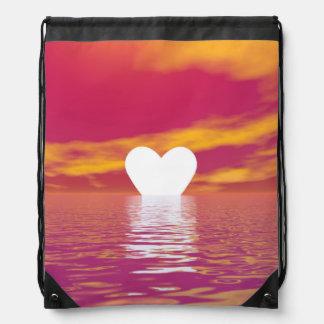 Love sunset - 3D render Drawstring Bag