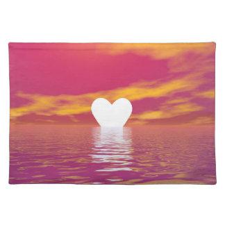 Love sunset - 3D render Placemat