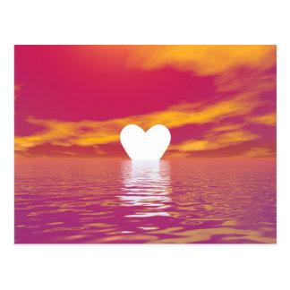 Love sunset - 3D render Postcard