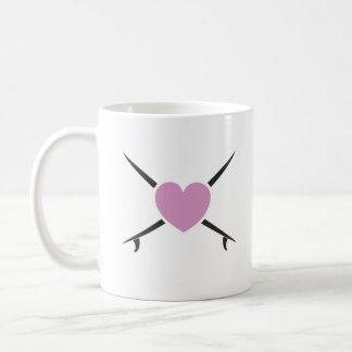 love surf basic white mug