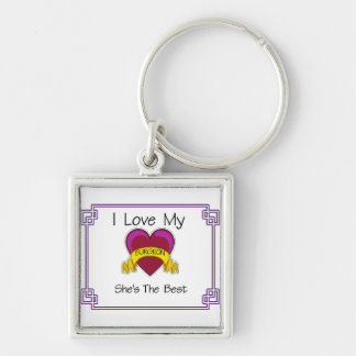 Love Surgeon Shes the Best Silver-Colored Square Key Ring