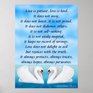 Love Swans 1 Corinthians 13 Print
