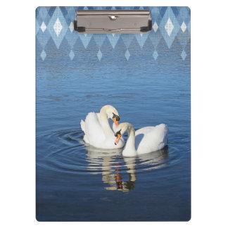Love Swans Clipboard