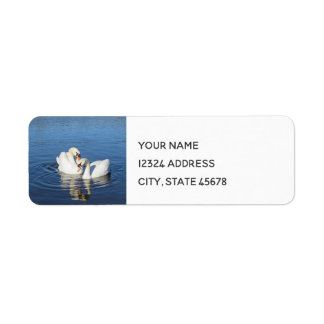Love Swans Return Address Label