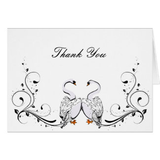 Love Swans Thank You Card