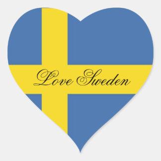 Love Sweden-Swedish Flag Heart Sticker