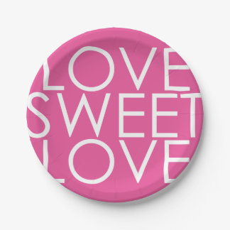 Love sweet love paper plate for bridal shower