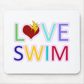LOVE SWIM MOUSE PADS