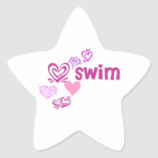 Love Swim Star Sticker