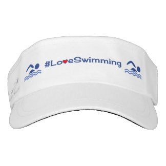 Love swimming hashtag sports visor