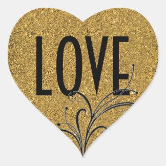 Love Swirl Sticker/Envelope Seal Heart Sticker