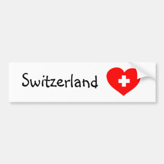 Love Switzerland - Swiss heart bumper sticker