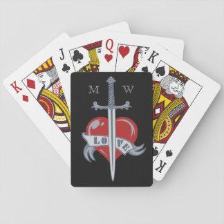 Love Sword custom playing cards