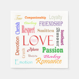 Love Synonyms by Shirley Taylor Paper Napkin